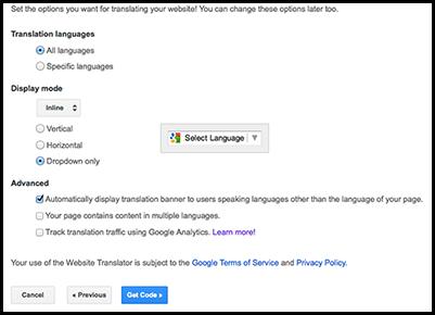 Set up \u0026 Add Google Translate to your Website \u2013 Websorceress